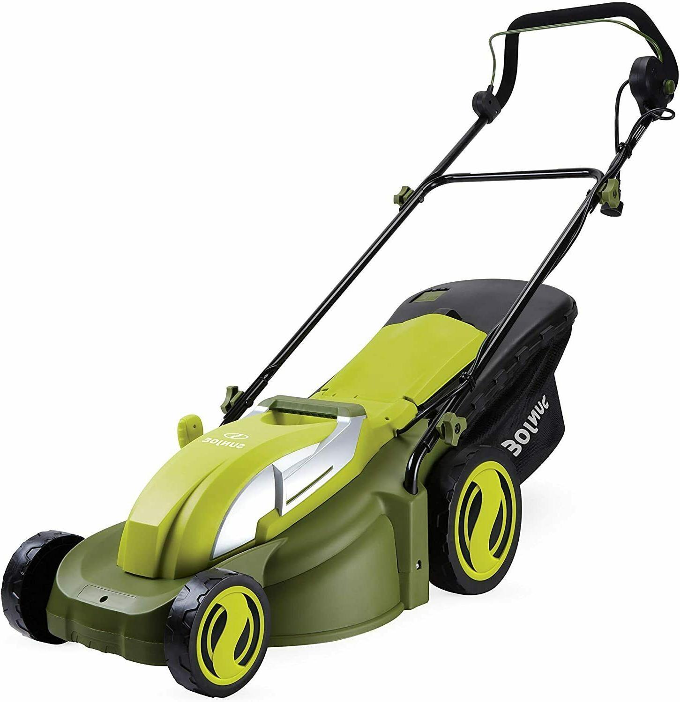 mj403e 17 13 amp electric mower green