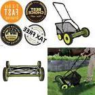 "MJ501M Mow Joe 18"" Manual Reel Mower w/ Grass Catcher Easy t"