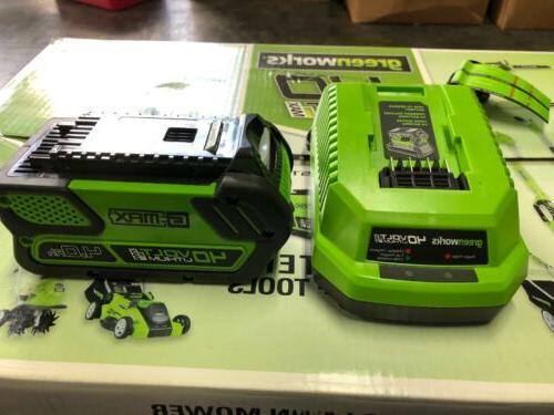 greenworks Cordless Lawn Mower Battery &