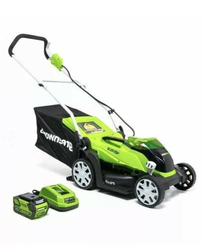 mo40b00 14 inch 40v cordless lawn mower