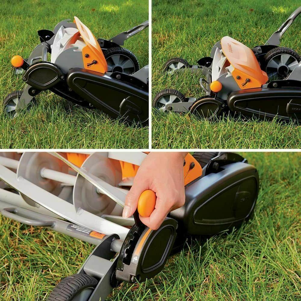 Reel Lawn Mower inch Types Cutter Black
