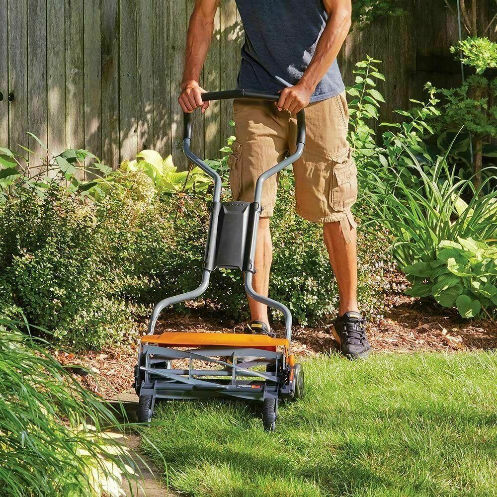 Reel Lawn Mower inch Lawnmower All Grass Types Black