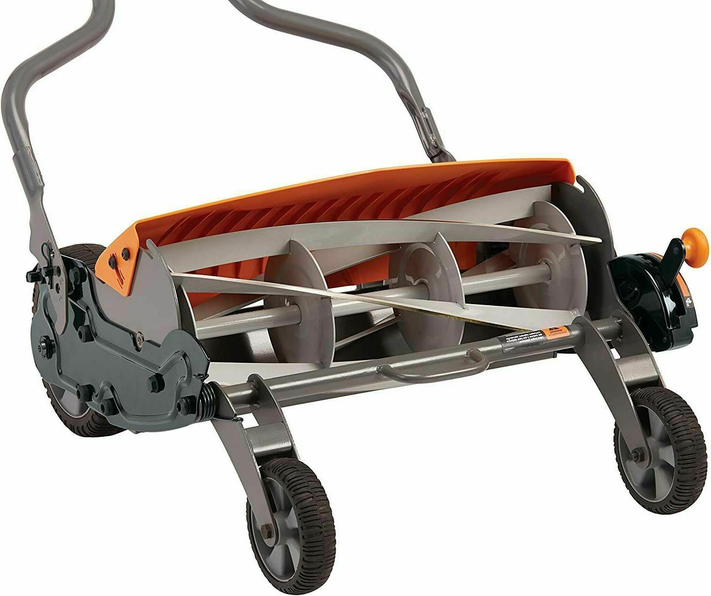 Reel Lawn Mower 18 inch Types Black