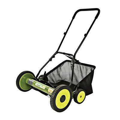 Reel Lawn Push Mower 20-Inch Outdoor Garden Care Steel 5-Bla