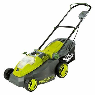 sun ion cordless lawn mower