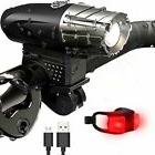 Waterproof USB-Recharge LED Bicycle Bike Front Light Headlig