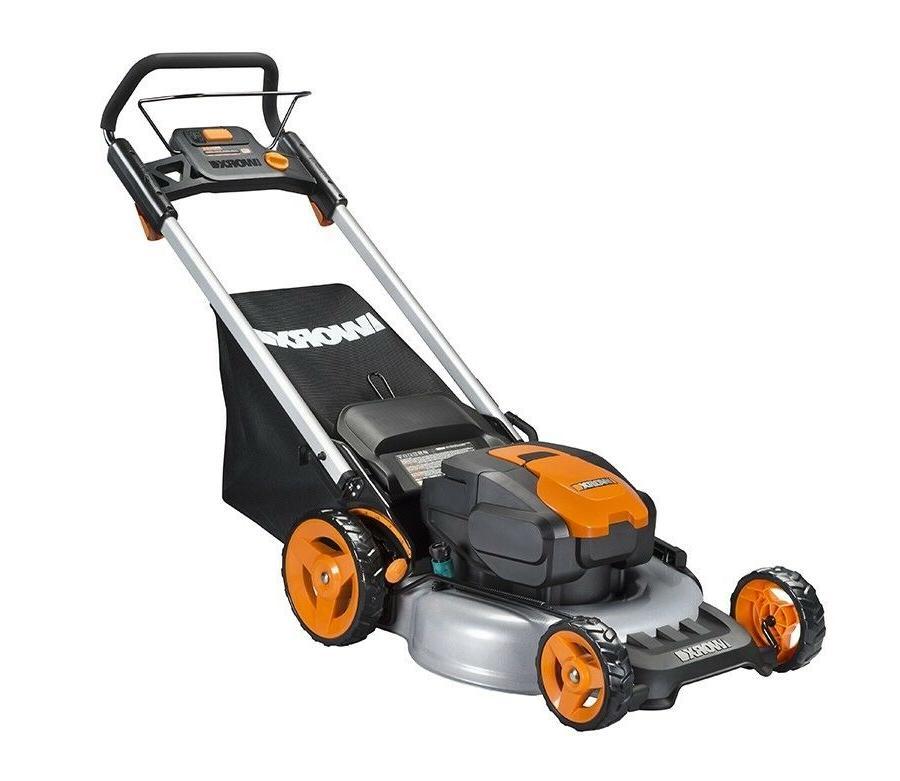 "WORX WG774 20"" Cordless Electric Mower with Plug"
