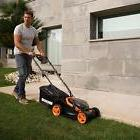 "Worx WG779 40V  Cordless 14"" Lawn Mower with Mulching Capabi"