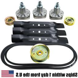 "John Deere L130 48"" Mower Deck Parts Rebuild Kit Spindles, B"