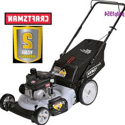 Craftsman 21 in 140cc OHV 3-in-1 Lawn Mower, Rear Bag, Mulch