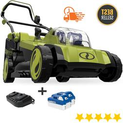 Lawn Mower Kit With Grass Catcher 2X 4.0-Ah Battery&Charger