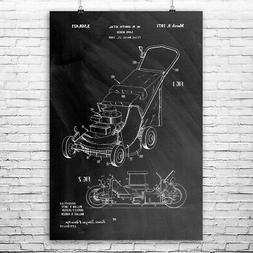 Lawn Mower Poster Print Gardener Gift Gardening Tools Yard W