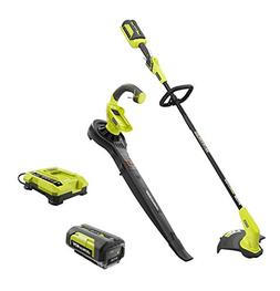 Ryobi 40-V Lithium-Ion Cordless String Trimmer Blower/Sweepe