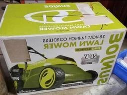 Sun Joe MJ401C 28-Volt, 14-Inch Cordless Lawn Mower NIB