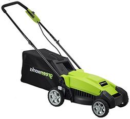 GreenWorks MO14B00 9 Amp 14in Corded Lawn Mower, New