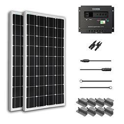 Renogy 200 Watt 12 Volt Monocrystalline Solar Starter Kit wi