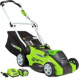 NEW Greenworks 16-Inch 40V Cordless Lawn Mower 4.0 AH Batter