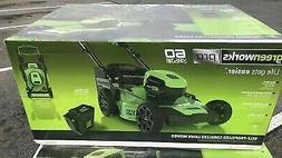 """NEW Greenworks Pro 60V 21"""" Brushless Self Propelled Mower MO"""