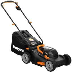 "**NEW WORX WG743 2X20V 17"" 4.0Ah Lawn Mower w/ Powershare Mu"