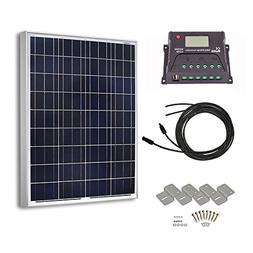 HQST 100 Watt 12 Volt Polycrystalline Solar Panel Kit with 1