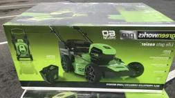 "Greenworks Pro 60V 21"" Brushless Self Propelled Lawn Mower M"