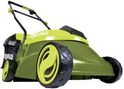 Sun Joe Push Lawn Mower Electric Walk Behind 14 In. 28 Volt