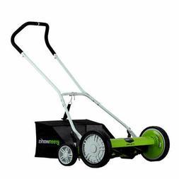 """Greenworks 20"""" Push Reel Mower 25072 New"""