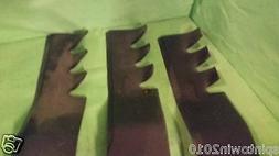"Set of 3 Mulching Blades for 50"" Deck Cub Cadet 04053, Toro"