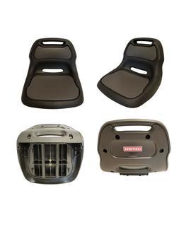 "Sturdy Plastic Craftsman Black Lawn Mower Seat 12"" Back AYP,"