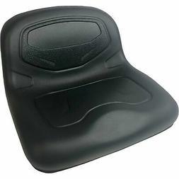Milsco TS3400 Formed Vinyl 1-Piece Lawn Mower Seat - Black,
