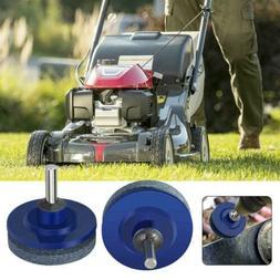 Universal 2PC Lawn Mower Sharpener Faster Blade Grinding Pow