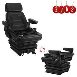 Happybuy Universal Pro Seat and Suspension Seat with Adjusta