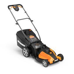 "WORX WG744 2X20V PowerShare 17"" Cordless Electric Lawn Mower"