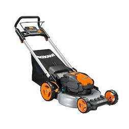 "WORX WG774 Intellicut 56V Cordless 20"" Lawn Mower with Mulch"
